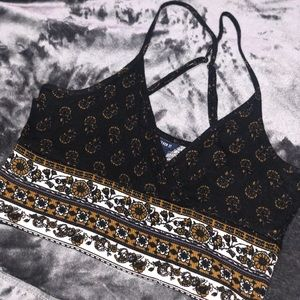 Forever 21 Pattern Crop Top